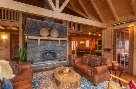 Sky High Lodge | Living Area | Cabin Rentals of Georgia