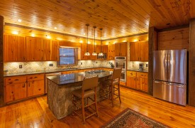 The River's Edge | Cabin Rentals of Georgia | Gourmet Kitchen with Cook's Island