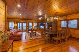 The River's Edge | Cabin Rentals of Georgia | Luxury Living Area w/ Spacious Floor Plan for Togetherness