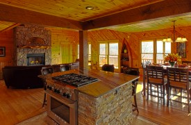 Serendipity On Noontootla Creek | Cabin Rentals of Georgia | Breakfast Bar