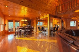Serendipity On Noontootla Creek | Cabin Rentals of Georgia | Open Floor Plan