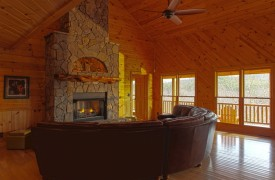 Serendipity On Noontootla Creek | Cabin Rentals of Georgia | Wood Interior