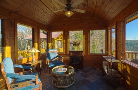 Serendipity On Noontootla Creek | Cabin Rentals of Georgia | Solarium