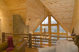 Fallen Timber Lodge | Cabin Rentals of Georgia | Window Wall View
