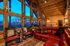 Live Streaming Lodge | Luxury Blue Ridge Living | Cabin Rentals of Georgia