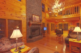 Skydance | Cabin Rentals of Georgia | Loft Perched Above Dining Area