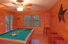Skydance | Cabin Rentals of Georgia | Billiards Table in Terrace Game Room
