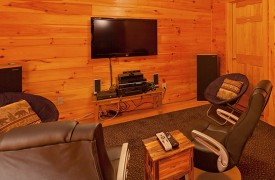 Skydance | Cabin Rentals of Georgia | Terrace Level Entertainment Area