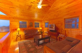 Skydance | Cabin Rentals of Georgia | Cozy Loft Living Area