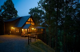 A Rivers Bend | Blue Ridge Cabin Rentals | Cabin Rentals Of Georgia | Twilight Exterior