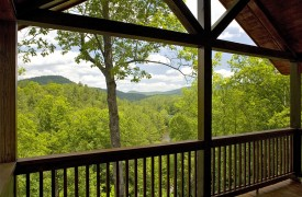 Aska Adventure Outpost | Cabin Rentals of Georgia | Covered Porch