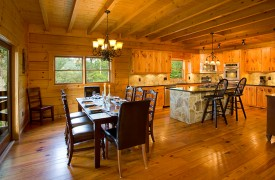 Fallen Timber Lodge | Cabin Rentals of Georgia | Open Floor Plan