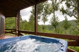 Fallen Timber Lodge   Cabin Rentals of Georgia   Jetted Hot Tub
