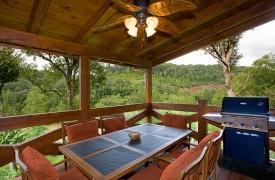 Fallen Timber Lodge   Cabin Rentals of Georgia   Covered Main Deck