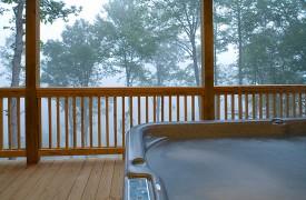 A Rolling River Cabin   Cabin Rentals of Georgia   Hot Tub Views
