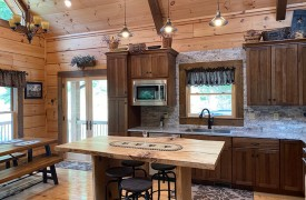 Lazy Creek Retreat | Cabin Rentals of Georgia | Kitchen and Dining Area