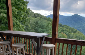 Happy Ours Loge | Cabin Rentals of Georgia | Al Fresco Dining w/ Views