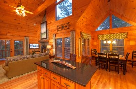 Blue Horizon Lodge | Cabin Rentals of Georgia | Open Floor Plan