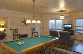 Fallen Timber Lodge | Cabin Rentals of Georgia | Terrace Game Room