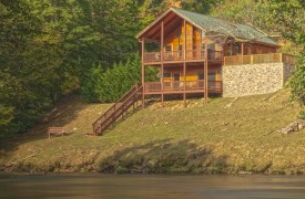 Hiwassee River Sanctuary | Cabin Rentals of Georgia | Covered Porches