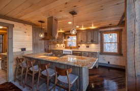 River Heights Lodge | Cabin Rentals of Georgia | Gourmet kitchen w/ custom details