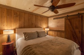 River Heights Lodge | Cabin Rentals of Georgia | King Bedroom on Main Level