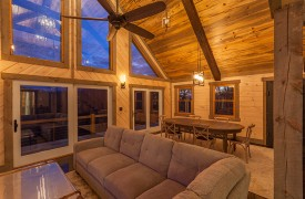 River Heights Lodge | Cabin Rentals of Georgia | Plush comfortable living area seating