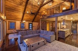 River Heights Lodge | Cabin Rentals of Georgia | Spacious Living, Dining, and Kitchen