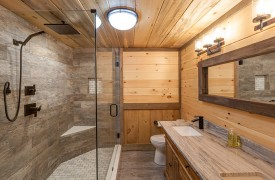 River Heights Lodge   Cabin Rentals of Georgia   Terrace Level Full Custom En-suite Bath