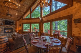 Aska Escape Lodge | Interior | Living Area | Cabin Rentals of Georgia