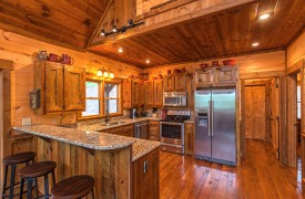 Aska Escape Lodge | Interior | Kitchen | Cabin Rentals of Georgia