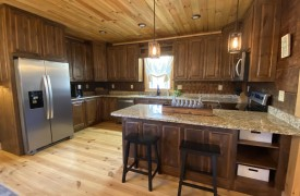 Our True Blue | Blue Ridge Cabin Rentals | Cabin Rentals of Georgia | Spacious Kitchen w/ custom cabinetry