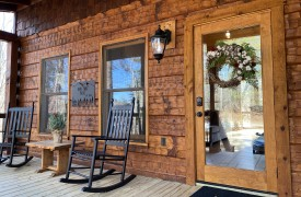 Our True Blue | Blue Ridge Cabin Rentals | Cabin Rentals of Georgia | Front Porch, Rockers, Welcoming