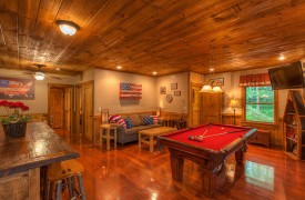 Aska Escape Lodge | Blue Ridge Cabins | Aska Adventure Area Cabin Rentals | Cabin Rentals of Georgia | Game Room
