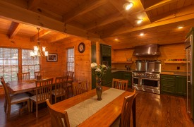 Sky High Lodge | Dining Area/Kitchen | Cabin Rentals of Georgia