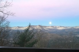 Cohutta Sunset | Cabin Rentals of Georgia | Moonrise Over Mountains