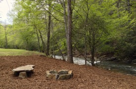 Crooked Creek Cabin | Cabin Rentals of Georgia | Fire Pit With Seating