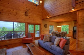 High Hopes | Cabin Rentals of Georgia | Main Level Living Area