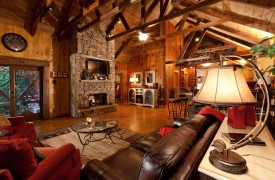 Time Flies | Cabin Rentals of Georgia | Intricate Vaulted Ceilings