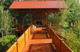 Serendipity On Noontootla Creek | Cabin Rentals of Georgia | Pavilion