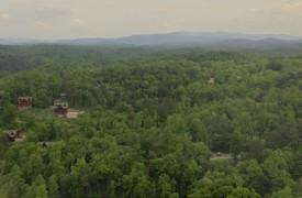 Outlaw Ridge | Cabin Rentals of Georgia | Aerial shot of Family Reunion Cabin Rentals