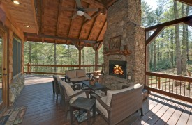 Aska Escape Lodge | Blue Ridge Cabins | Aska Adventure Area Cabin Rentals | Cabin Rentals of Georgia | Outdoor Fireplace
