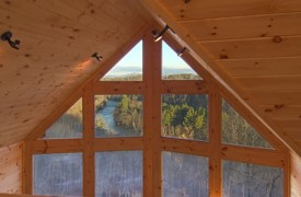 Riverview Lodge | Cabin Rentals of Georgia | Window Wall From Loft