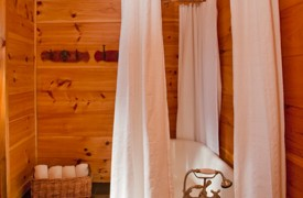 A Rolling River Cabin | Cabin Rentals of Georgia | Terrace Queen Suite Bath