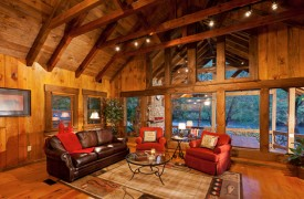 Time Flies | Cabin Rentals of Georgia | Large Window Wall