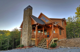 Heartwood Lodge | Cabin Rentals of Georgia | Exterior Entrance