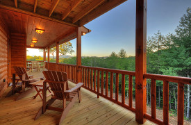 Heartwood Lodge | Cabin Rentals of Georgia | Sunset on the Porch