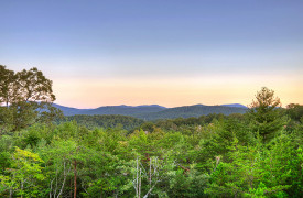 Heartwood Lodge | Cabin Rentals of Georgia | Sunset Mountain Views