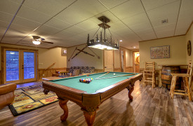 Heartwood Lodge | Cabin Rentals of Georgia | Terrace Level Game Room