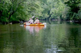 A Rivers Bend | Cabin Rentals of Georgia | Relaxing Canoe Ride